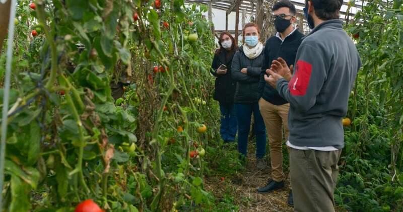 El equipo de la Dirección de Desarrollo Productivo y Sustentable para los Pequeños y Medianos Productores visitó emprendimientos productivos en Balcarce y Sierras de los Padres.
