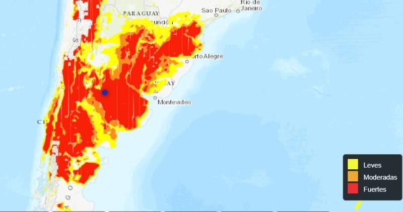 Se pronostican tormentas para la noche del sábado en la zona costera bonaerense y durante la semana se esperan heladas fuertes en La Pampa y Buenos Aires