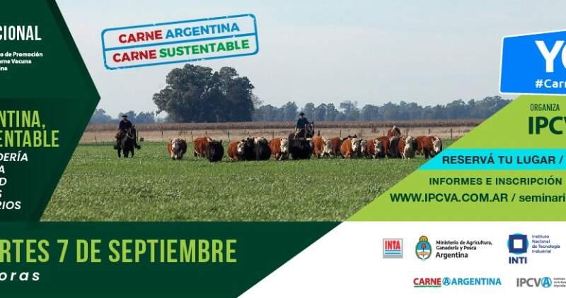 """El martes 7 de septiembre se realizará el seminario del IPCVA, """"Cómo la ganadería contribuye a la sustentabilidad de los sistemas agroalimentarios"""""""